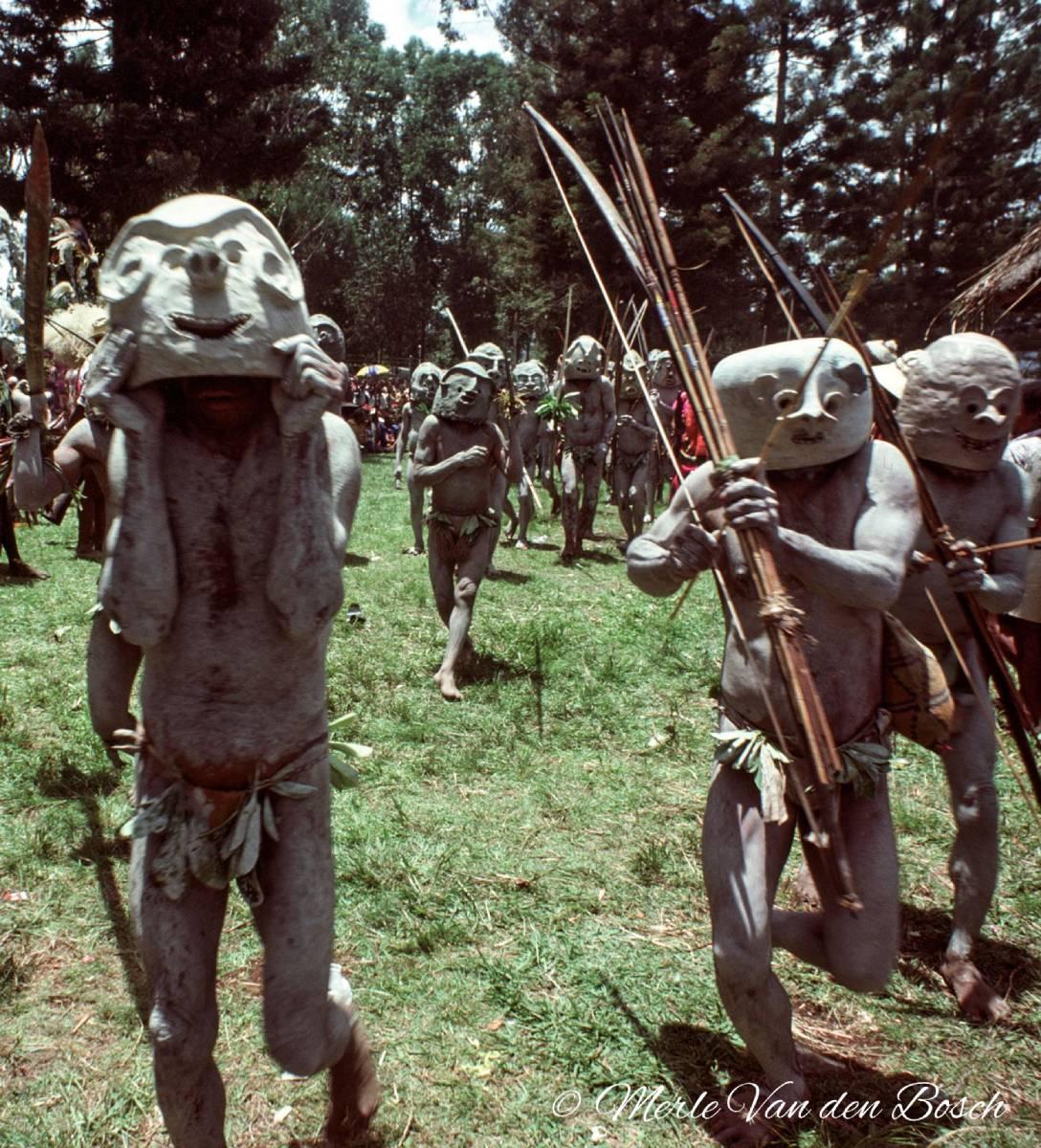 Mudmen dancing